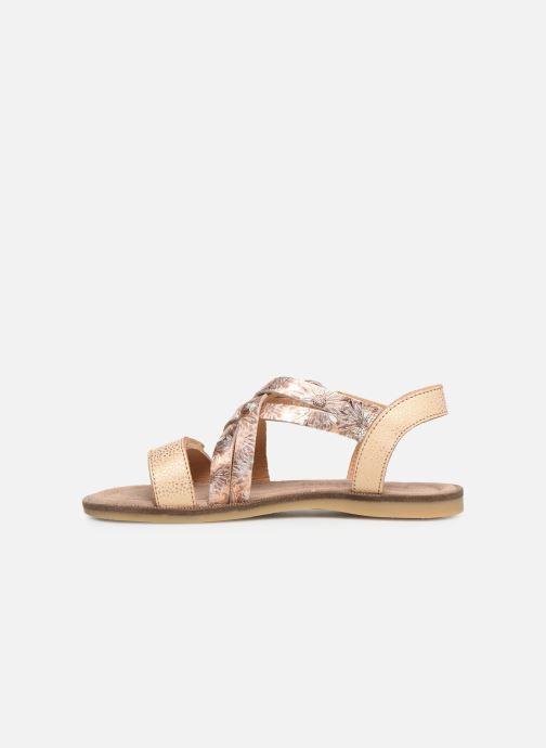 Sandales et nu-pieds Bisgaard Barbara Or et bronze vue face