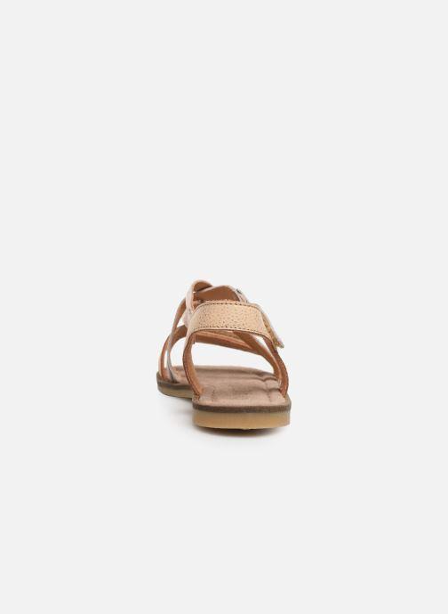 Sandales et nu-pieds Bisgaard Barbara Or et bronze vue droite