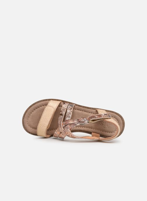 Sandales et nu-pieds Bisgaard Barbara Or et bronze vue gauche