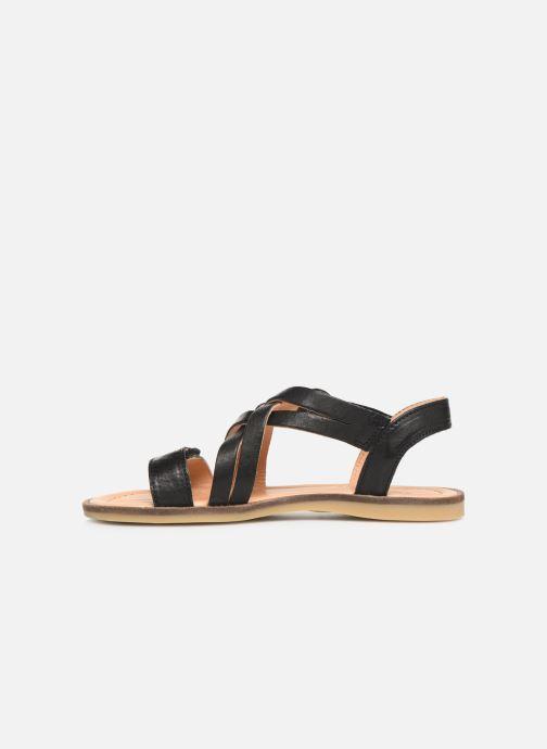 Sandales et nu-pieds Bisgaard Barbara Noir vue face