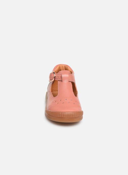 Ballerines Babybotte Papaya Rose vue portées chaussures