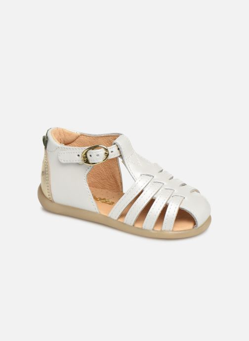 Sandals Babybotte Guyana White detailed view/ Pair view