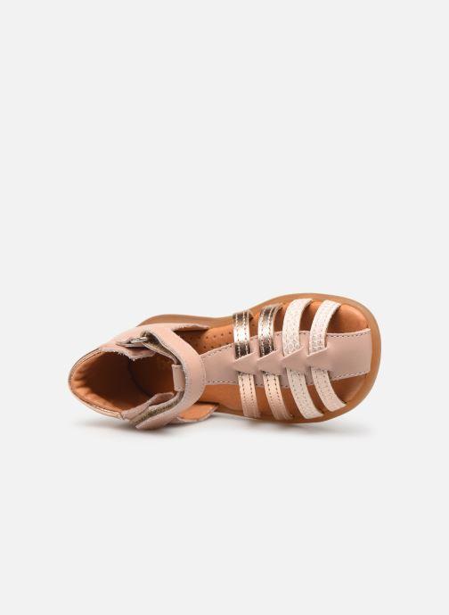 New Season BabyBotte Teriyaki Infant Girls Closed Toe Leather Sandals In Nude