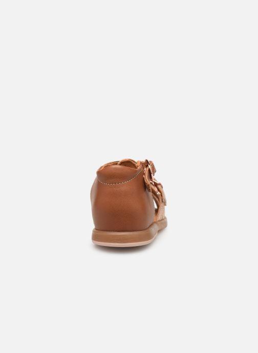 Sandales et nu-pieds Babybotte Twix Marron vue droite