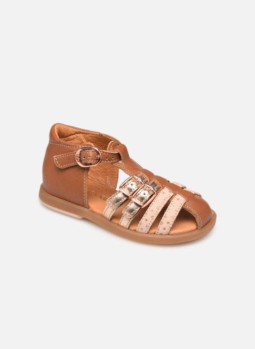 Sandales et nu-pieds Babybotte Twix Marron vue détail/paire