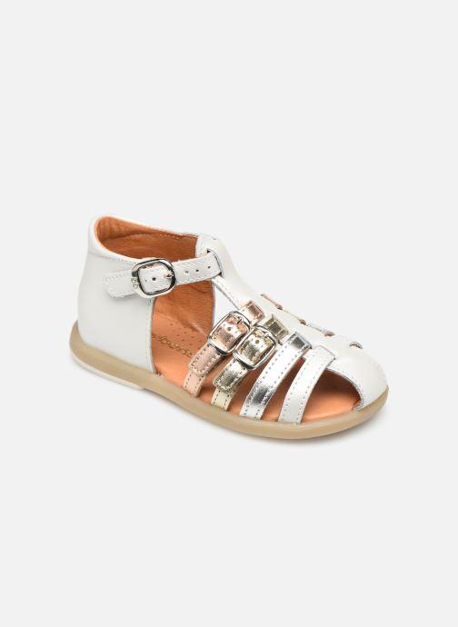Sandales et nu-pieds Babybotte Twix Blanc vue détail/paire