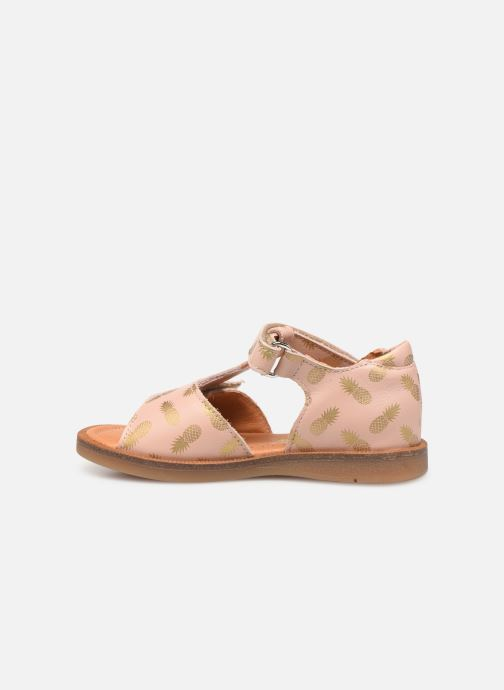 Sandales et nu-pieds Babybotte Tropical Beige vue face
