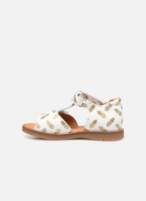 Sandalen Babybotte Tropical weiß ansicht von vorne