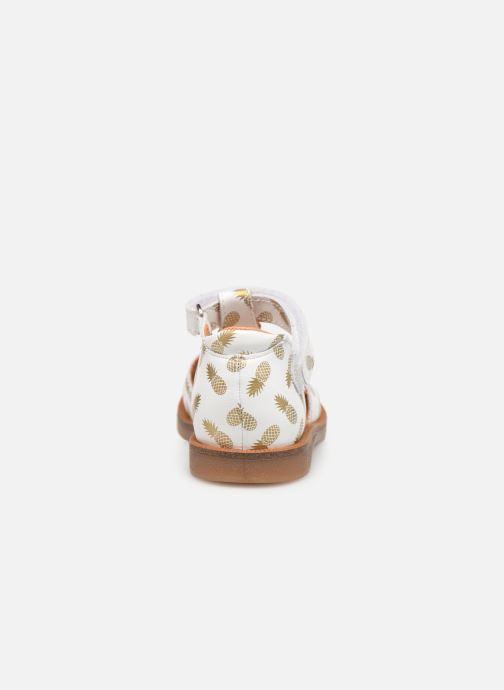 Sandalen Babybotte Tropical weiß ansicht von rechts