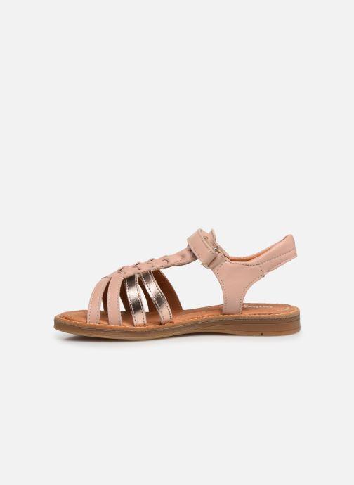 Sandales et nu-pieds Babybotte Karousel Beige vue face