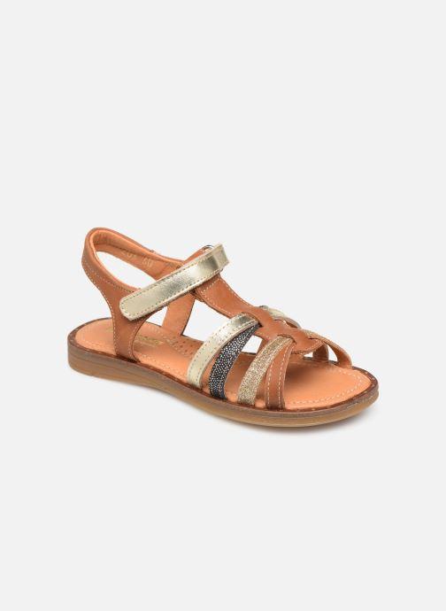 Sandales et nu-pieds Babybotte Kidz Marron vue détail/paire