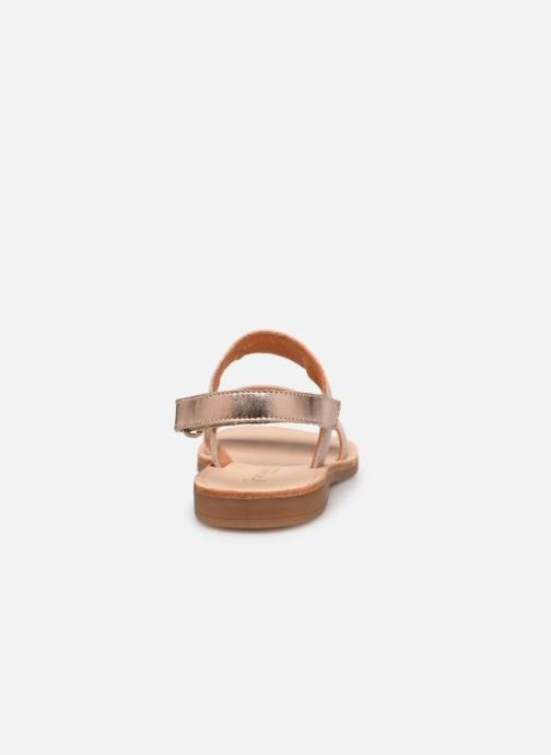 Sandals Babybotte Yoko Beige view from the right