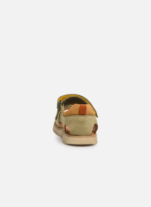 Sandalias Babybotte Tonga Verde vista lateral derecha
