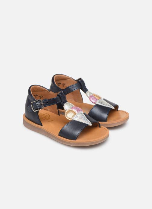 Sandales et nu-pieds Pom d Api Poppy Ice Cream Bleu vue 3/4