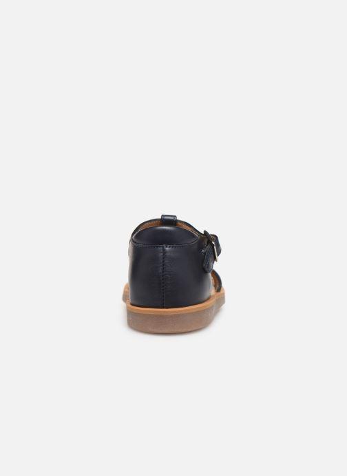Sandales et nu-pieds Pom d Api Poppy Ice Cream Bleu vue droite