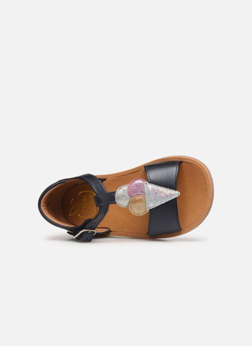Sandales et nu-pieds Pom d Api Poppy Ice Cream Bleu vue gauche