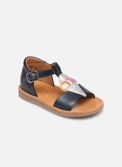 Sandales et nu-pieds Pom d Api Poppy Ice Cream Bleu vue détail/paire