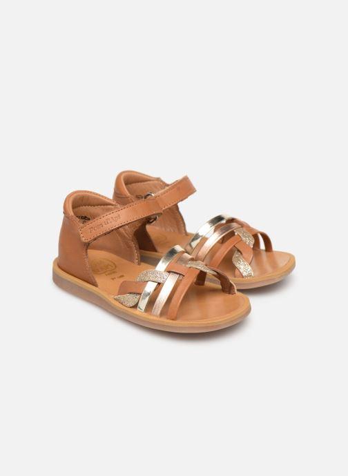 Sandales et nu-pieds Pom d Api Poppy Tresse Multicolore vue 3/4