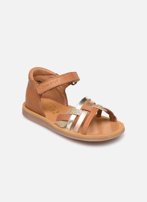 Sandales et nu-pieds Pom d Api Poppy Tresse Multicolore vue détail/paire