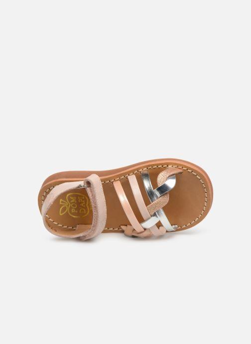 Sandales et nu-pieds Pom d Api Yapo Tresse SZ Multicolore vue gauche