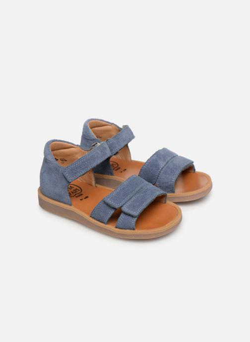 Sandales et nu-pieds Pom d Api Poppy Bypo Bleu vue 3/4