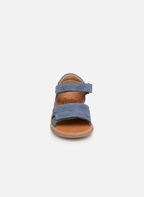 Sandales et nu-pieds Pom d Api Poppy Bypo Bleu vue portées chaussures