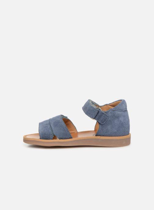 Sandalen Pom d Api Poppy Bypo blau ansicht von vorne