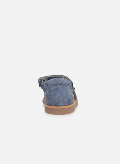 Sandales et nu-pieds Pom d Api Poppy Bypo Bleu vue droite