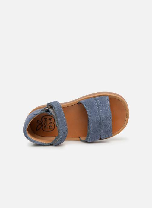 Sandalen Pom d Api Poppy Bypo blau ansicht von links