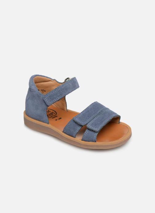 Sandales et nu-pieds Pom d Api Poppy Bypo Bleu vue détail/paire