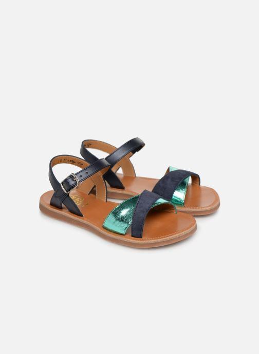 Sandales et nu-pieds Pom d Api Plagette Tek Bleu vue 3/4