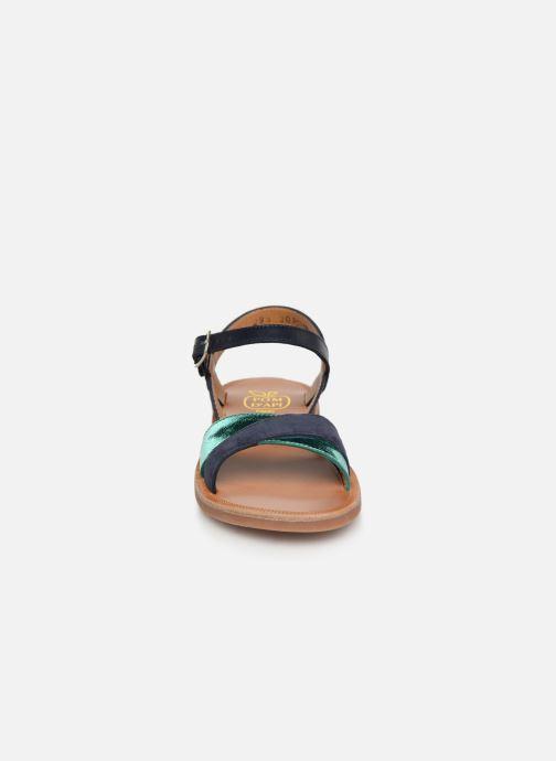Sandales et nu-pieds Pom d Api Plagette Tek Bleu vue portées chaussures