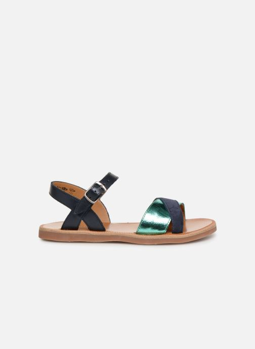 Sandales et nu-pieds Pom d Api Plagette Tek Bleu vue derrière