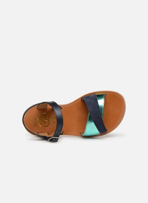 Sandales et nu-pieds Pom d Api Plagette Tek Bleu vue gauche