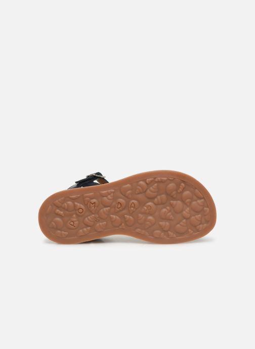 Sandales et nu-pieds Pom d Api Plagette Tek Bleu vue haut