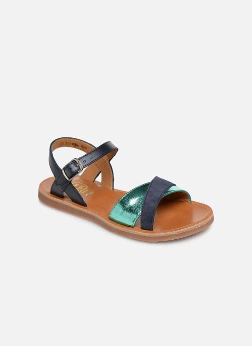 Sandales et nu-pieds Pom d Api Plagette Tek Bleu vue détail/paire