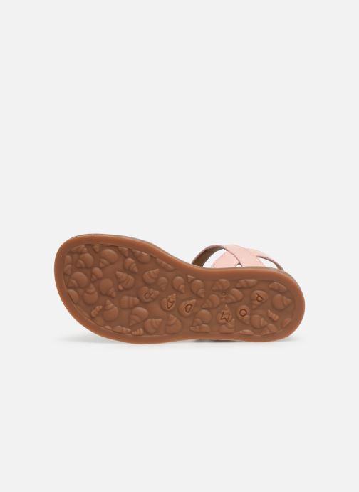 Sandales et nu-pieds Pom d Api Plagette Tek SZ Rose vue haut