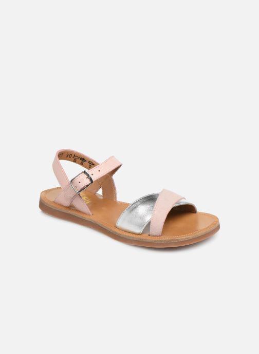 Sandales et nu-pieds Pom d Api Plagette Tek SZ Rose vue détail/paire