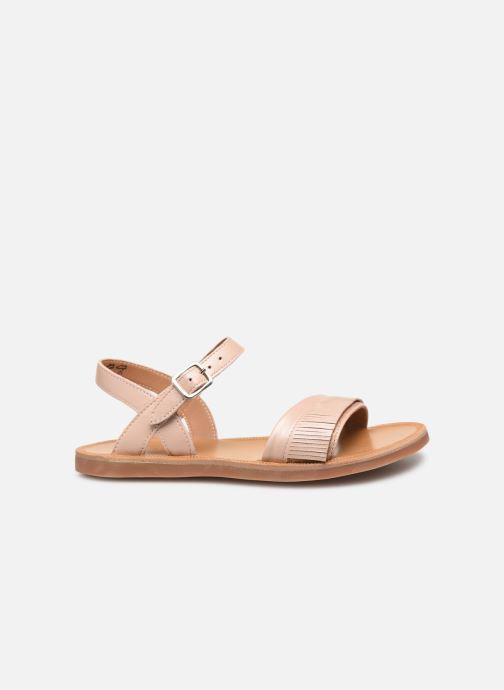Sandales et nu-pieds Pom d Api Plagette Fringes Rose vue derrière