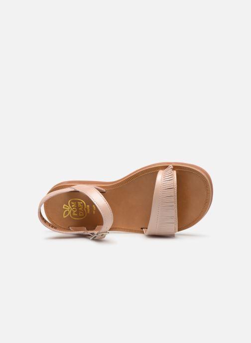 Sandales et nu-pieds Pom d Api Plagette Fringes Rose vue gauche