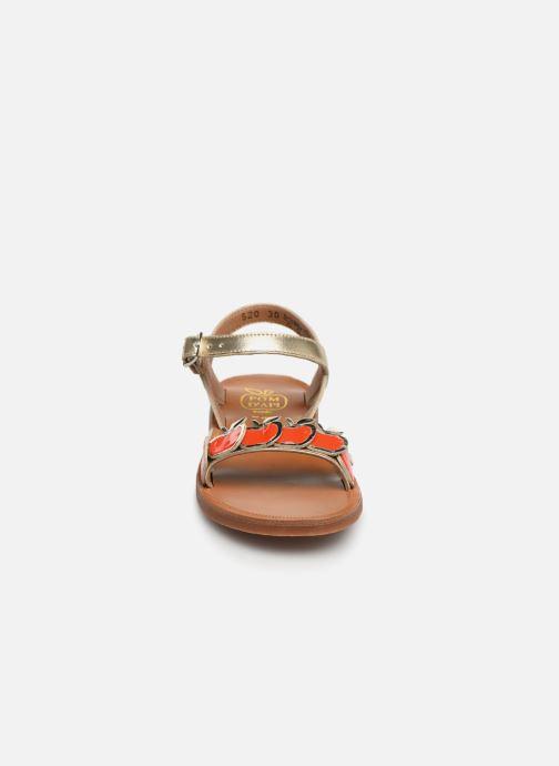 Sandales et nu-pieds Pom d Api Plagette Api Argent vue portées chaussures