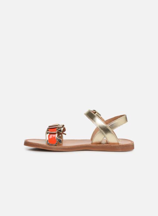 Sandales et nu-pieds Pom d Api Plagette Api Argent vue face