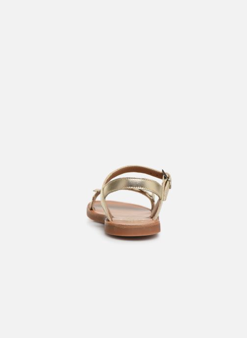 Sandals Pom d Api Plagette Api Silver view from the right