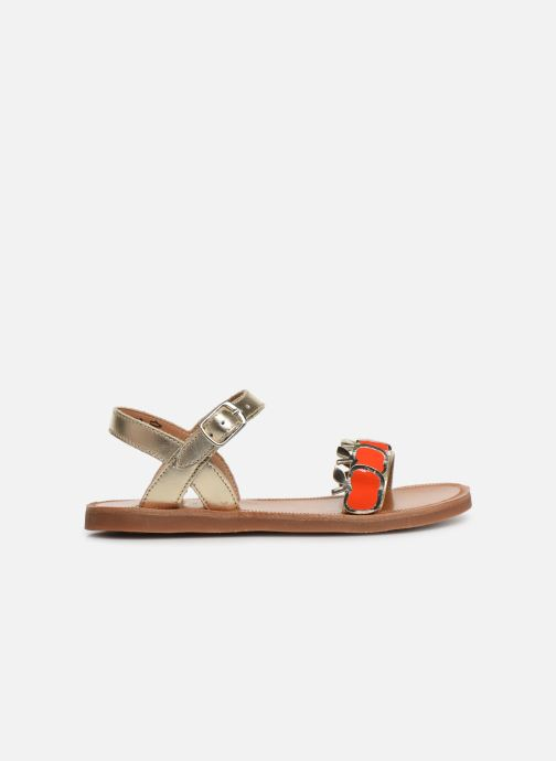 Sandales et nu-pieds Pom d Api Plagette Api Argent vue derrière