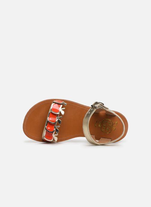 Sandales et nu-pieds Pom d Api Plagette Api Argent vue gauche