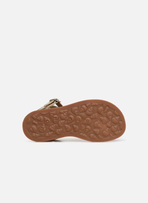 Sandales et nu-pieds Pom d Api Plagette Api Argent vue haut