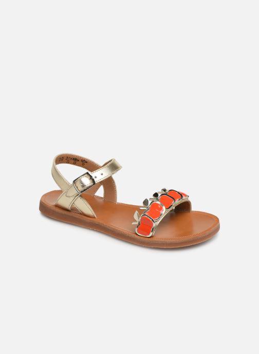 Sandales et nu-pieds Pom d Api Plagette Api Argent vue détail/paire
