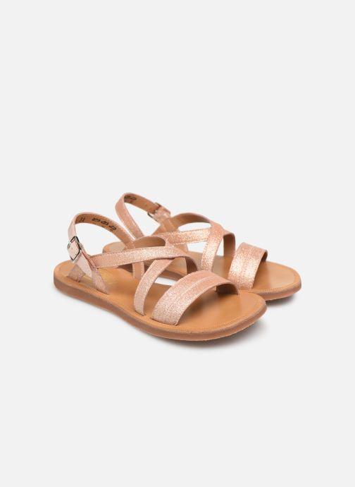 Sandales et nu-pieds Pom d Api Plagette Lagon Beige vue 3/4