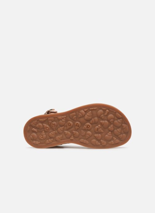 Sandals Pom d Api Plagette Lagon Beige view from above