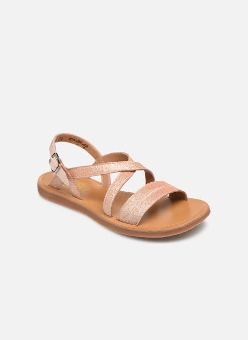 Sandales et nu-pieds Pom d Api Plagette Lagon Beige vue détail/paire